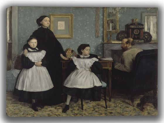 Degas, Edgar: The Bellelli Family. Fine Art Canvas. Sizes: A4/A3/A2/A1 (003762)
